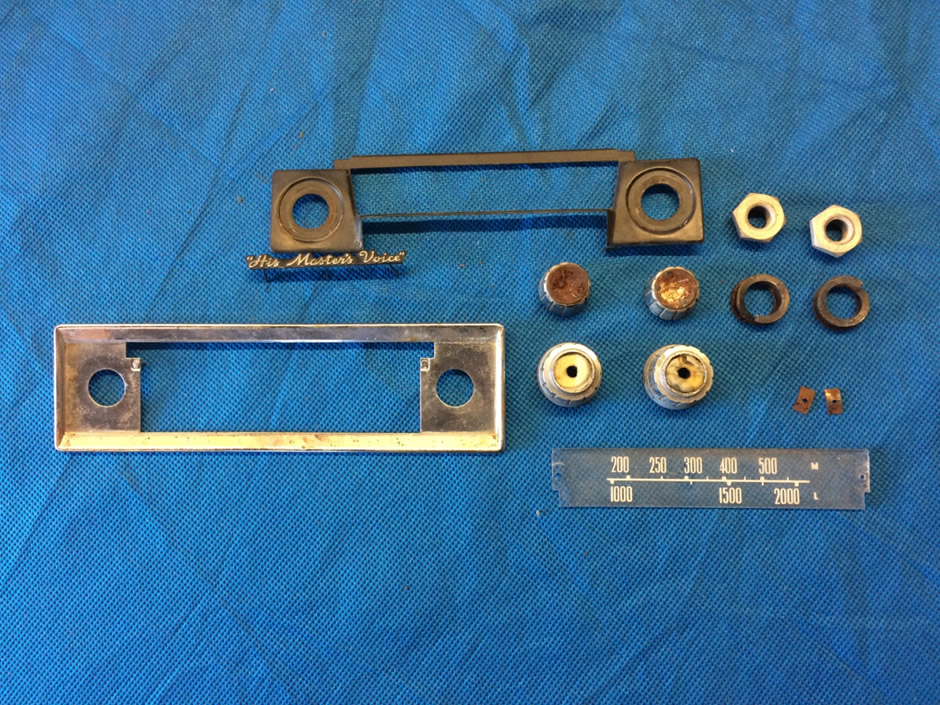 Radiomobile 400T Dial and Face Plate components